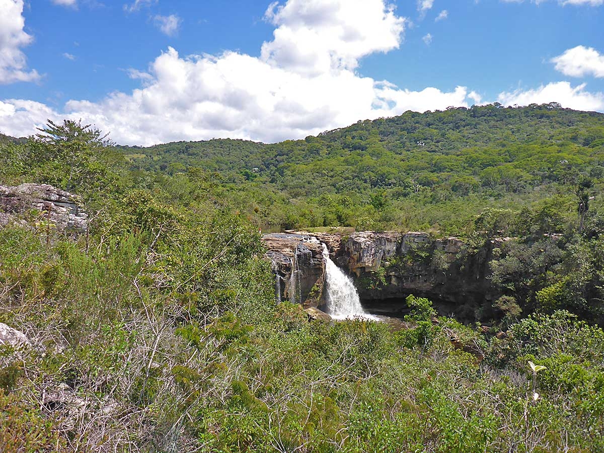 38 Der Wasserfall im Nationalpark Serra do Cipo